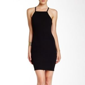 Free Press Tank Ribbed Black Sleeveless Dress M